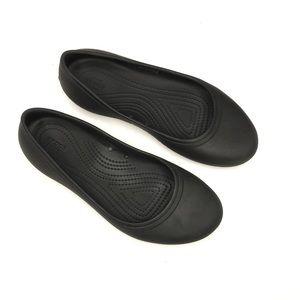 Crocs Flats Slip On Comfort Shoe Black Womens